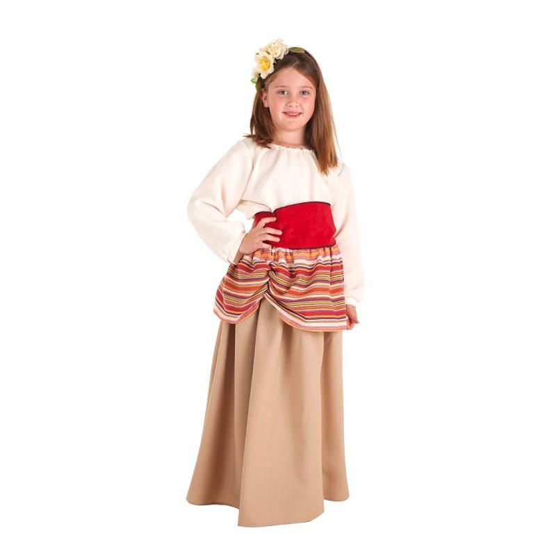 adbc223c15 Disfraz 100% fabricado en España Disfraz Campesino Carlota Infantil