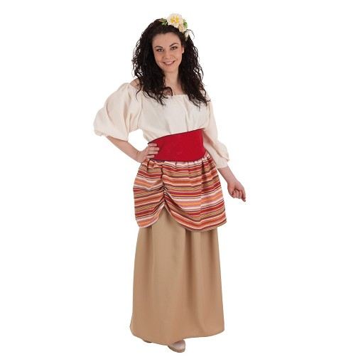 Disfraz Campesina Carlota Adulto