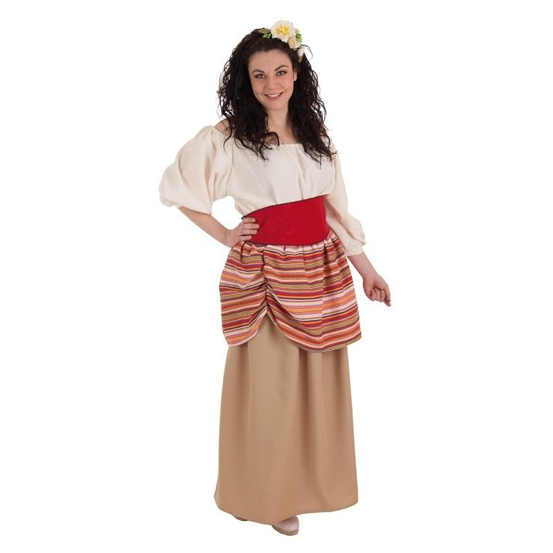 120fb57cba Disfraz 100% fabricado en España Disfraz Campesina Carlota Adulto