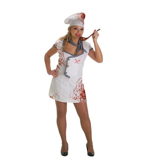 Disfraz Cocinera Zombie Adulto