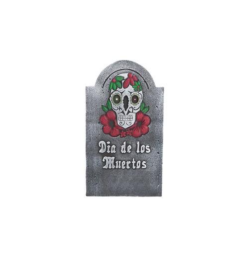 Lapida Dia de Los Muertos 38X66 cm. con Luz