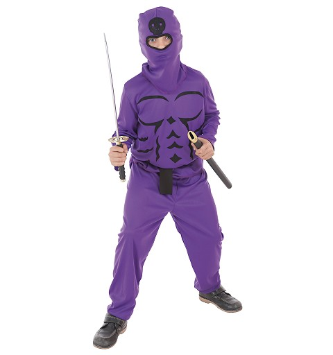 Disfraz Ninja Lila Infantil