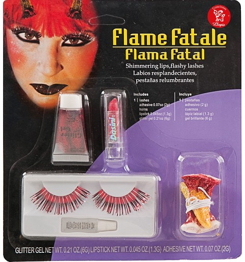 Maquillaje Set Pestañas Diabla