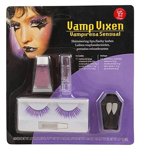 Maquillaje Set Pestañas Vampira