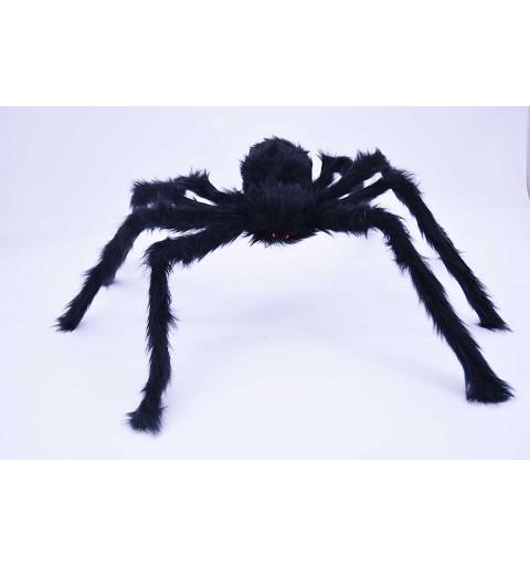 Araña negra ojos rojos 90 cm H0033
