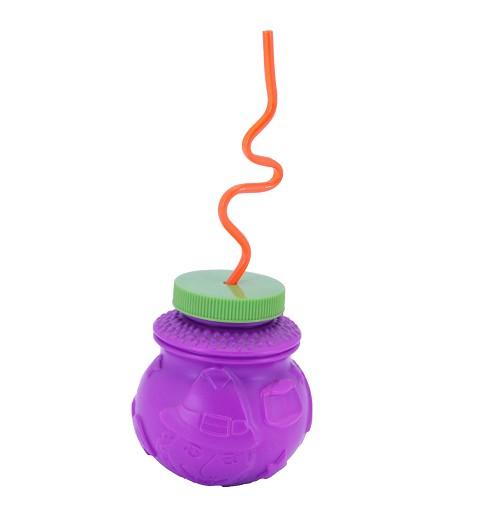 Vaso lila con tapa H0039