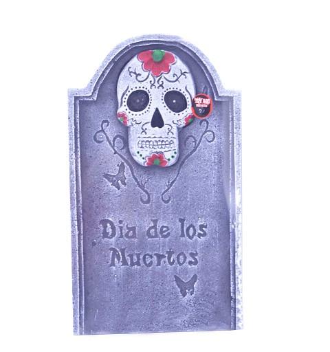 """Lápida """"Dia de los muertos"""" c/luz 55 cm H0063"""