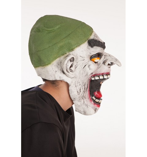 Máscara nariz larga/gorro verde H0017