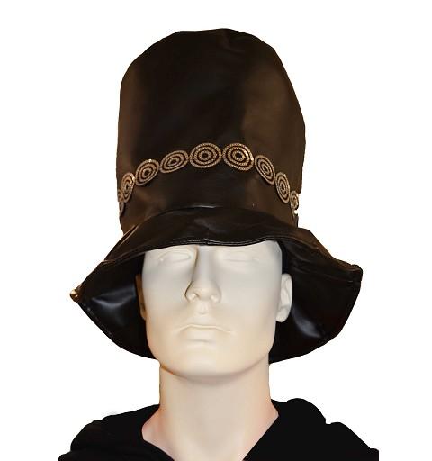 Sombrero negro adornos plata 34 cm H0077