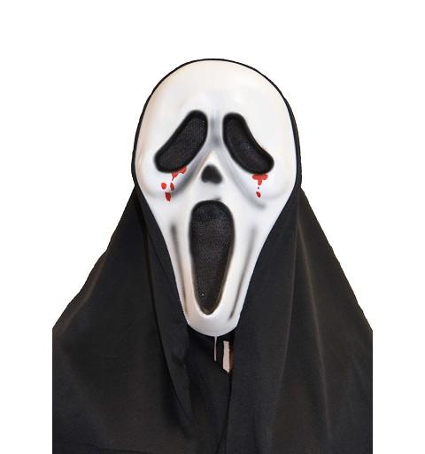 Máscara plástico blanca sangre lágrimas H0081