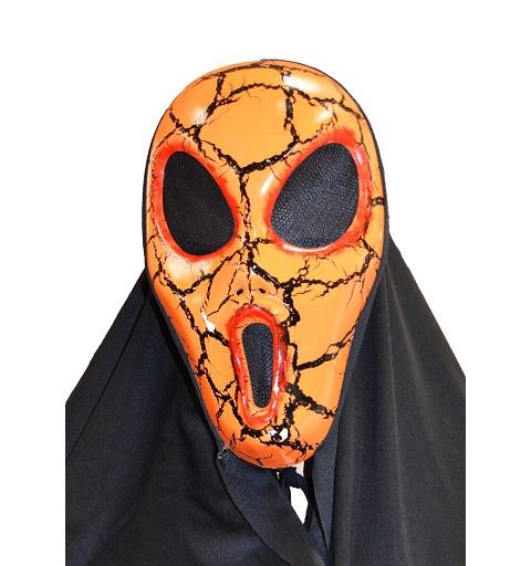 Máscara naranja ojos grandes H0082