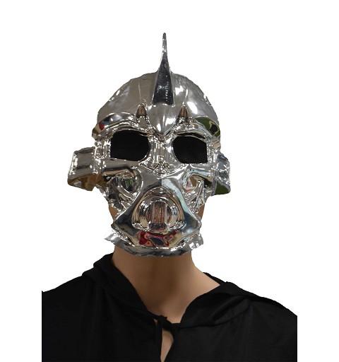 Máscara metalizada ojos rejilla H0089