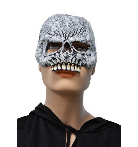 Media máscara gris c/dientes H0108