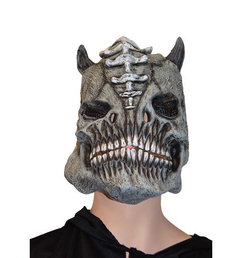 Máscara gris c/cuernos