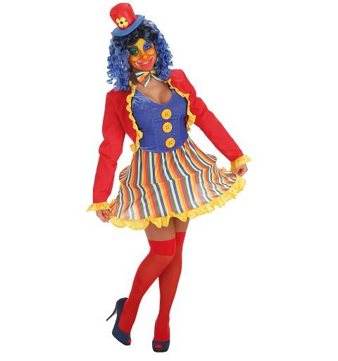 Disfraz Payasa Diabolica Lola Adulto