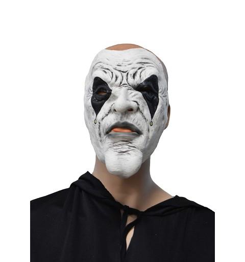 Máscara blanca c/ojos negros H0127