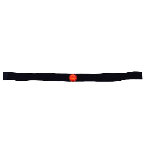 Collar negro diamante rojo redondo H0131