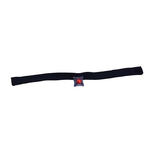 Collar negro diamante rojo cuadrado H0132