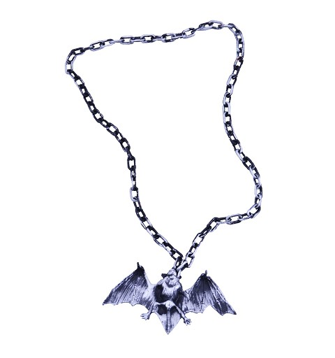 Collar murciélago plateado H0143