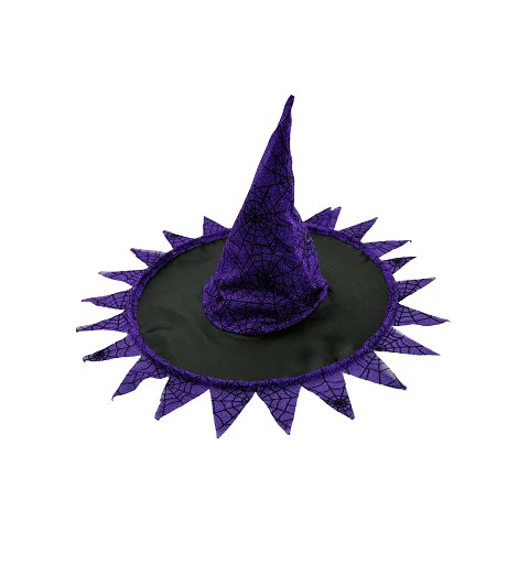 Sombrero bruja negro/lila H0157