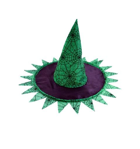 Sombrero bruja negro/verde...