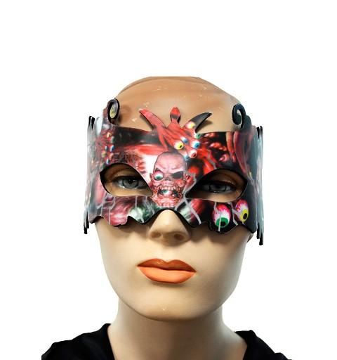 Máscara 3D tonos rojos 24 cm H0153