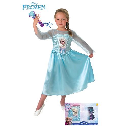 Disfraz Elsa Classic + Micro En Caja Infantil