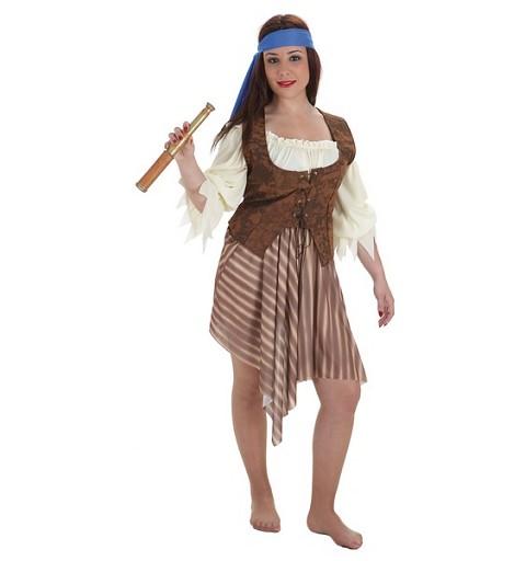 Disfraz Pirata Rayas Adulto