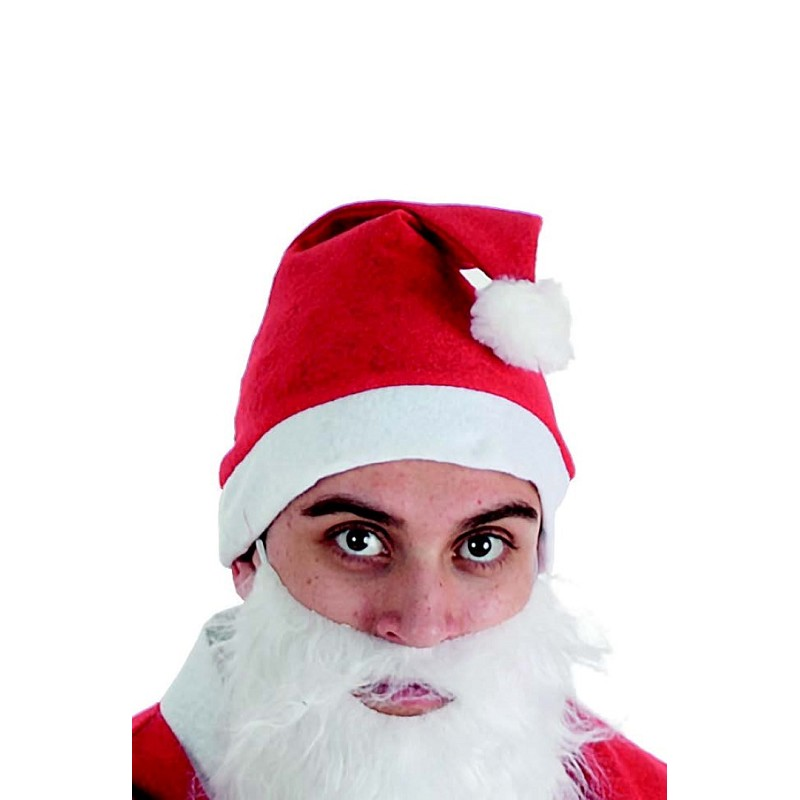 6c41a426caebc Gorro de Papá Noel Rojo con Barba Blanca para Adulto - MiDisfraz