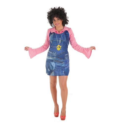 Disfraz Hippie Vaquera Mujer