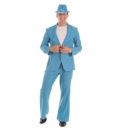 Disfraz Suits Blue Adulto