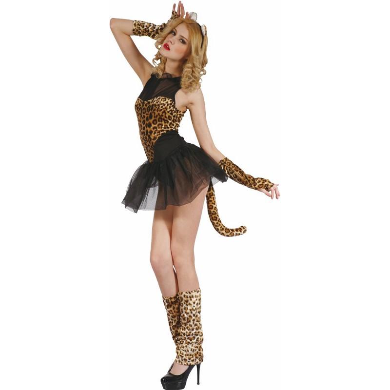 675018c79034 Disfraz de Leopardo Sexy con Orejas y Tutú para Mujer - MiDisfraz