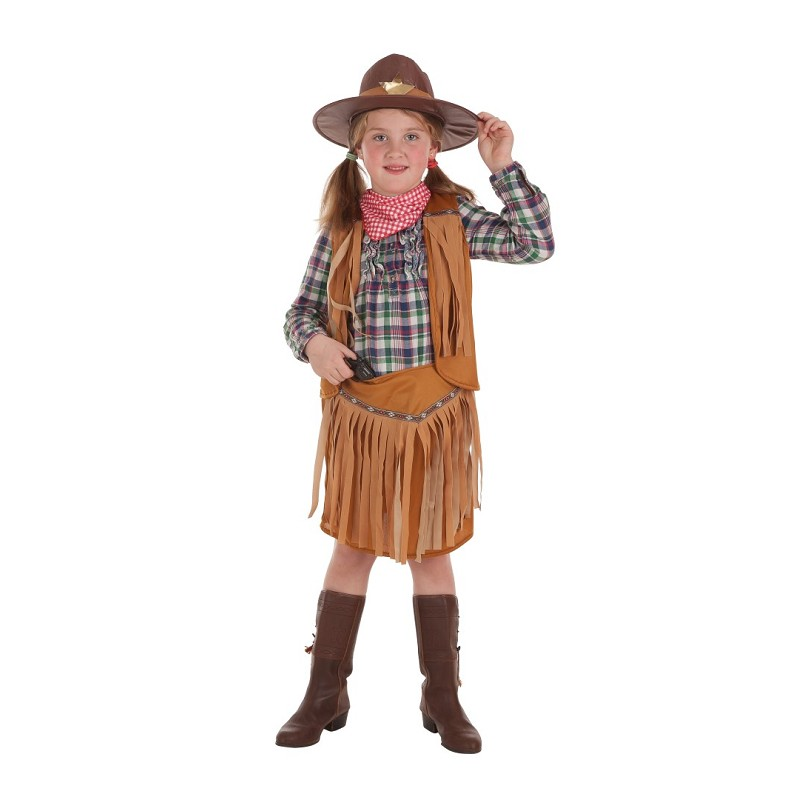 3e3630dcd3cf5 Disfraz de Pistolera con Pañuelo y Sombrero para Niña - MiDisfraz
