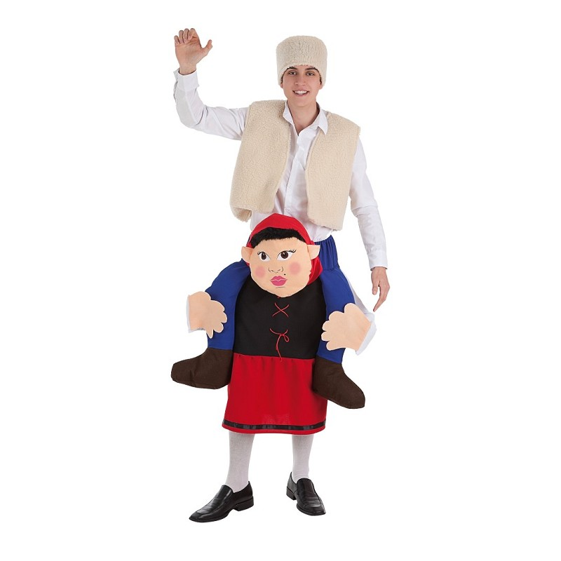 Disfraz a hombros pastora con bromista midisfraz - Disfraces de navidad originales ...