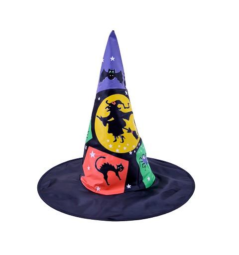 Sombrero Negro con Colores