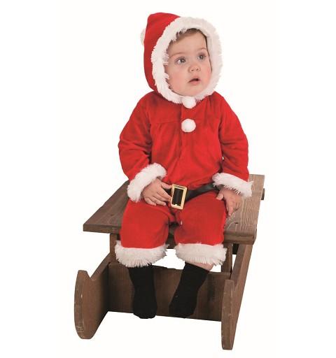 Disfraz Papa Noel Pelele Bebe ( hasta6 meses )