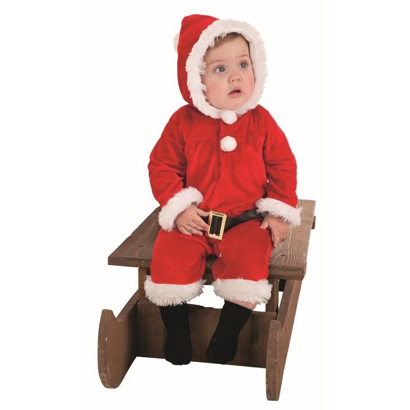 Disfraz Papa Noel Pelele Bebe Hasta6 Meses Midisfraz - Disfraces-papa-noel-bebe