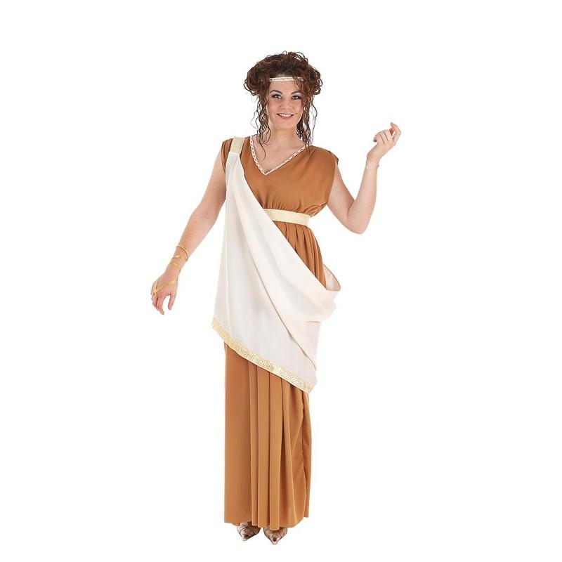 9329f230fdf Disfraz de Romana Marrón con Toga Blanca para Mujer - MiDisfraz
