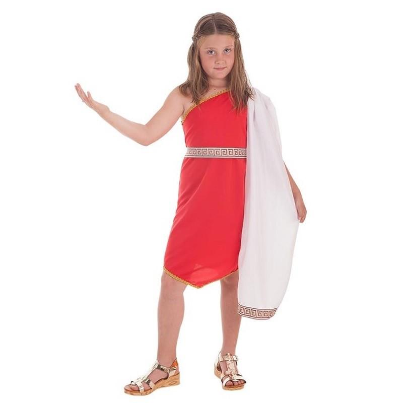 f03865fd2d5 Disfraz 100% fabricado en España Disfraz Romana Picos Rojo Infantil