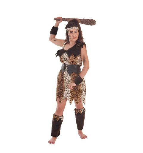 Disfraz Cavernícola Marrón Mujer Adulto