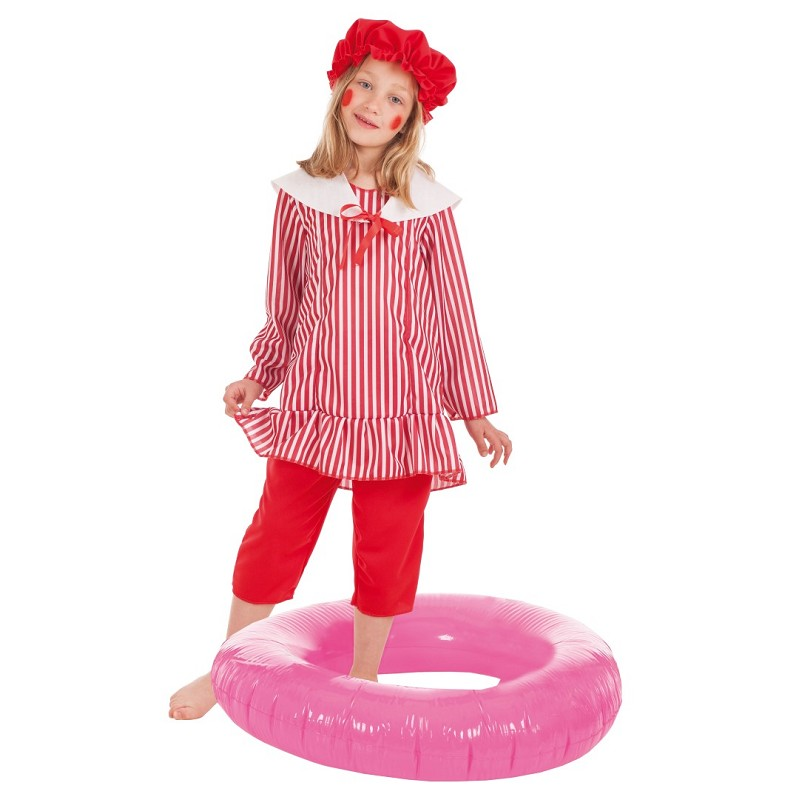 Disfraz Bañista Niña Infantil - MiDisfraz