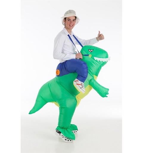 Hinchable Dino y Domador