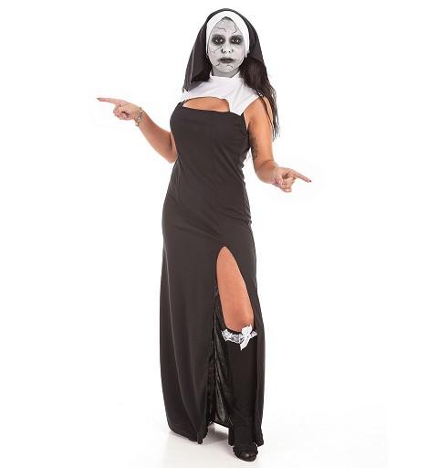 Disfraz Vestido Monja + Set...