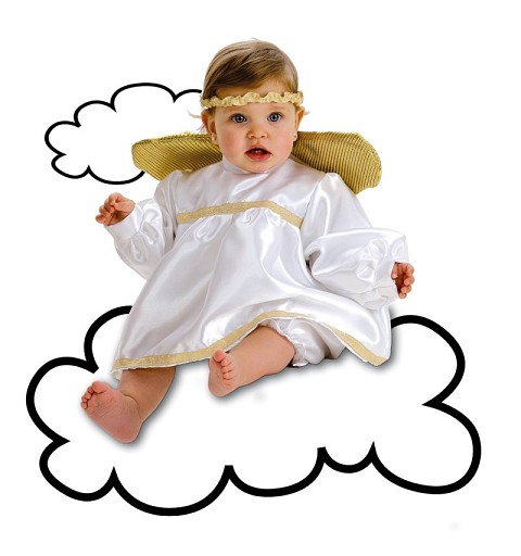 disfraz angel bebe a meses