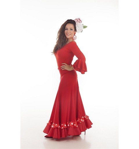 Falda Sevillana Roja Baile
