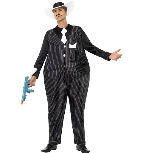 Disfraz Ganster Gordo Adulto