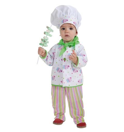 disfraz pastelero bebe a meses