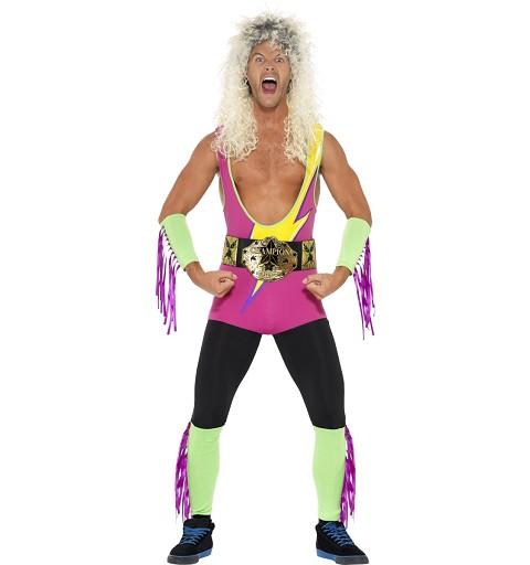 Disfraz Lucha Libre Años 90 Adulto