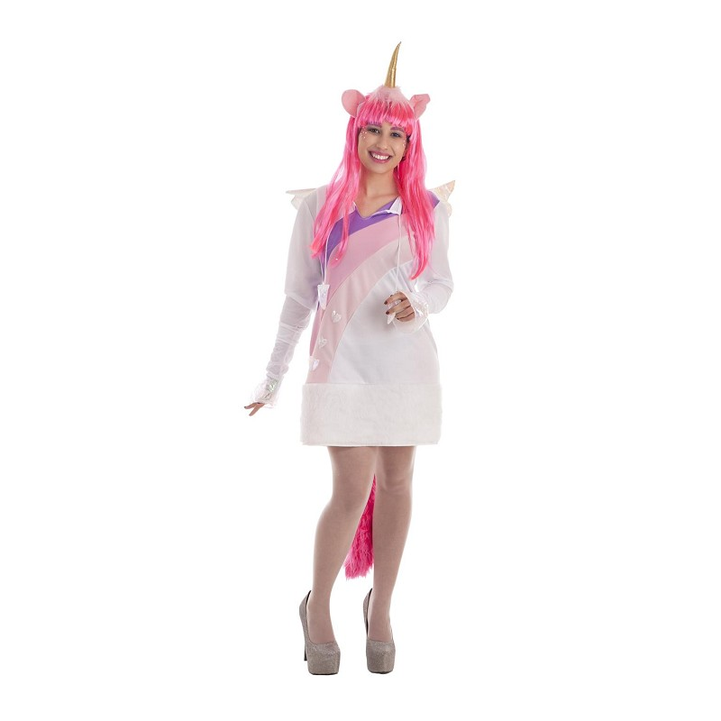e1539a8b9747 Disfraz Rosa de Unicornio con Alas y Cola para Mujer - MiDisfraz