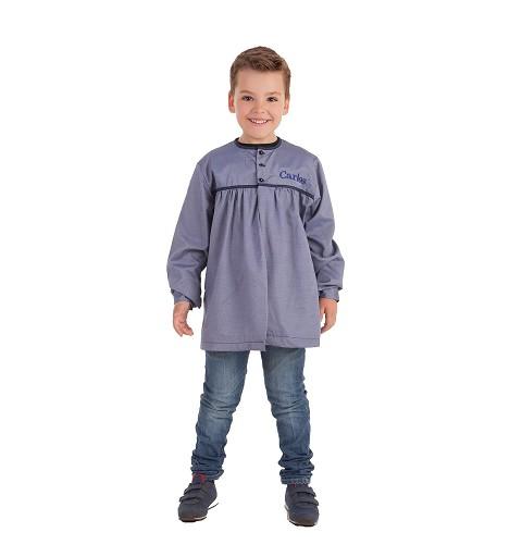 Blusón Fallero Azul Rayas Finas Infantil